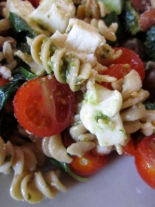 Tomato, Basil, Mozzarella Pasta Salad