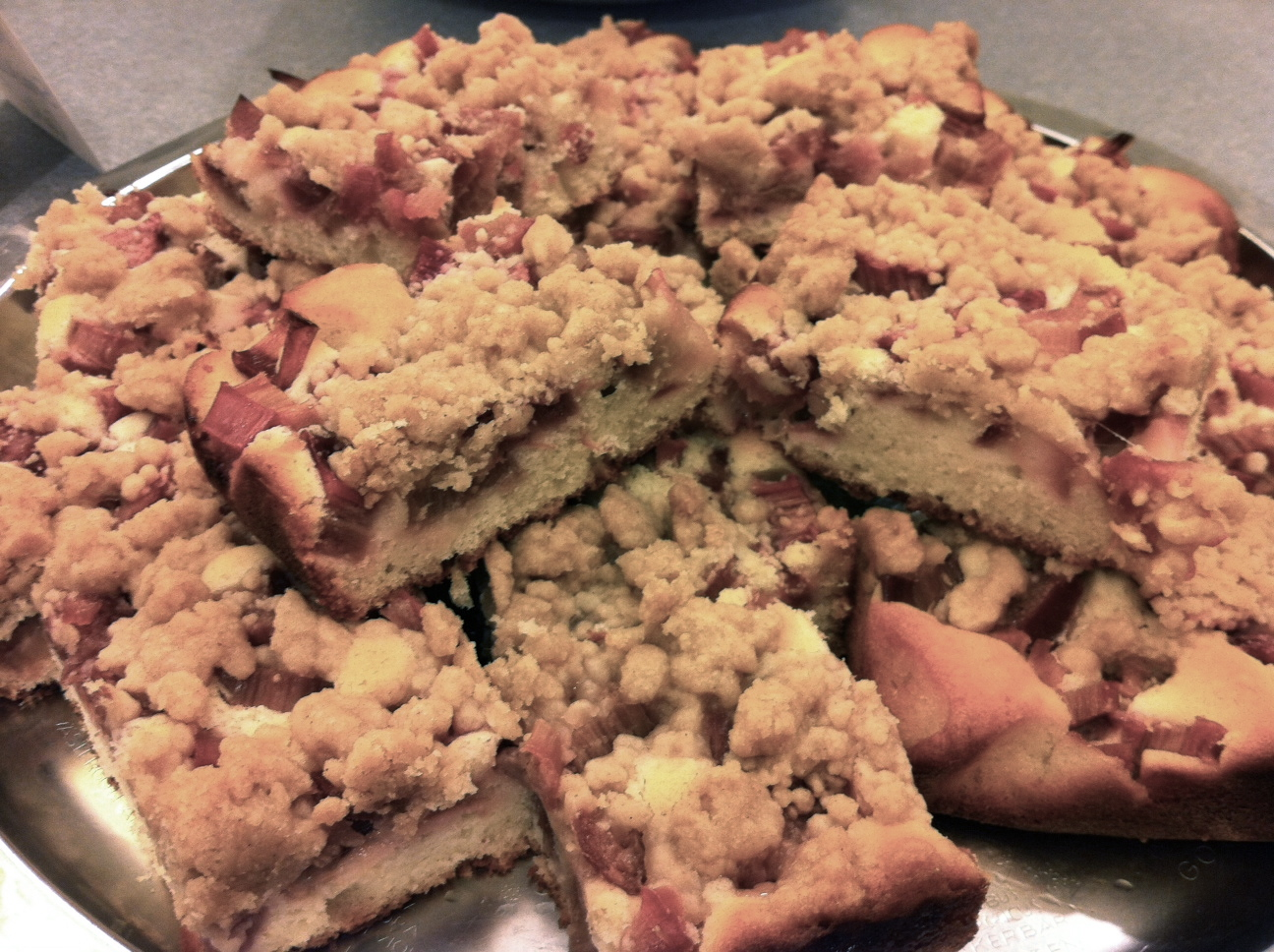 Rhubarb Snacking Cake Recipe — Dishmaps