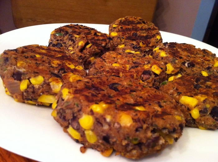 Black Bean Burgers with Corn
