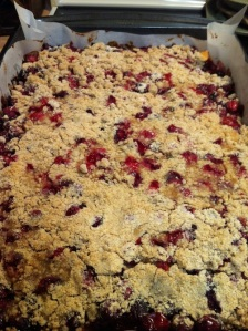 Cranberry Snacking Cake in pan