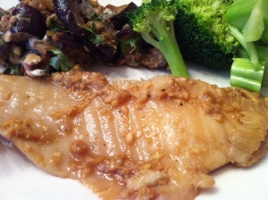Ginger and Sesame Tilapia