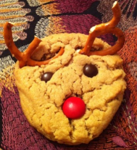 Peanut Butter Reindeer Cookie