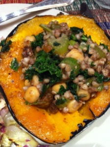 Spiced Stuffed Acorn Squash