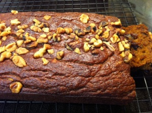 Vegan Pumpkin Walnut Bread loaf