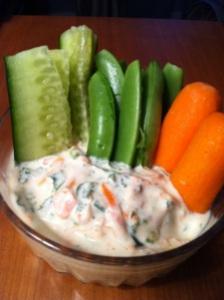 Veggie Greek Yogurt Dip