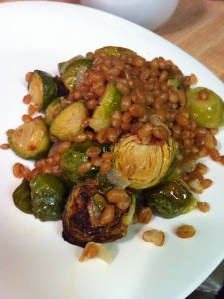 Lemony Wheat Berry and Brussel Sprout Salad