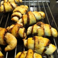 Raspberry Chocolate Pecan Rugelach