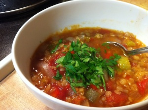 Red Lentil Mexican Soup
