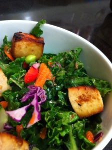 Tofu and Kale Salad with Citrusy Dressing