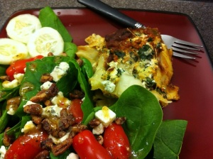 Turkey Spinach and Quinoa Lasagna with Salad