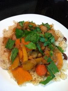 Moroccan Chickpea, Squash and Sweet Potato Tagine