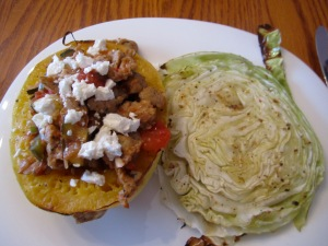 Stuffed Spaghetti Squash with Roasted Cabbage copy