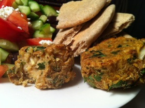 Baked Falafel with pita