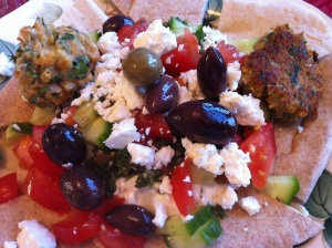 Greek Nachos with Falafel