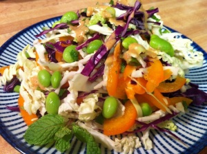 Peanut-Lime Cabbage Slaw