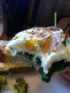 Runny Fried Egg Sandwich