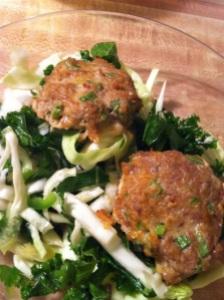 Thai Turkey Sliders with Cabbage Slaw