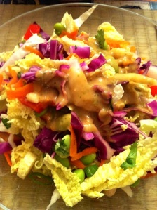 Cabbage Salad with Thai Peanut Dressing (A Seat at the Table)