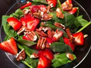 Strawberry Spinach Salad (A Seat at the Table)