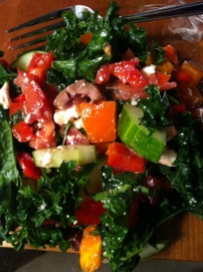Greek Kale Salad (A Seat at the Table)