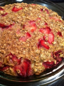 Strawberry Banana Baked Oatmeal (A Seat at the Table)