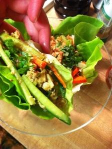 Tofu Lettuce Wrap with Hoisin-Peanut Sauce (A Seat at the Table)
