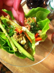 Tofu Lettuce Wrap with Hoisin-Peanut Sauce (A Seat at the Table)