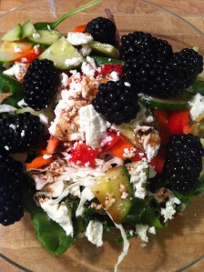 Blackberry Goat Cheese Salad (A Seat at the Table)