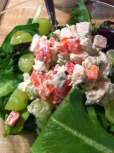 Blue Cheese Chicken Salad with Grapes (A Seat at the Table)