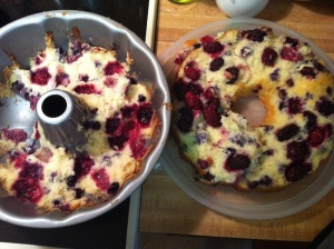 Double Berry Buttermilk Bundt Cake