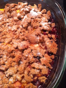 Peach and Blueberry Crisp (A Seat at the Table)