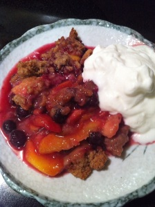 Peach Blueberry Crisp (A Seat at the Table)