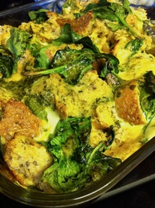 Spinach Pesto Strata (A Seat at the Table)