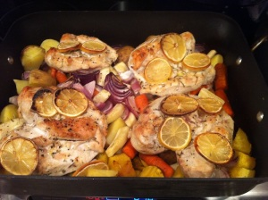 Lemon-Rosemary Roasted Chicken with Roasted Vegetables (A Seat at the Table)