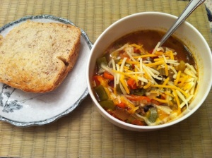 Stuffed Bell Pepper Soup meal (A Seat at the Table)